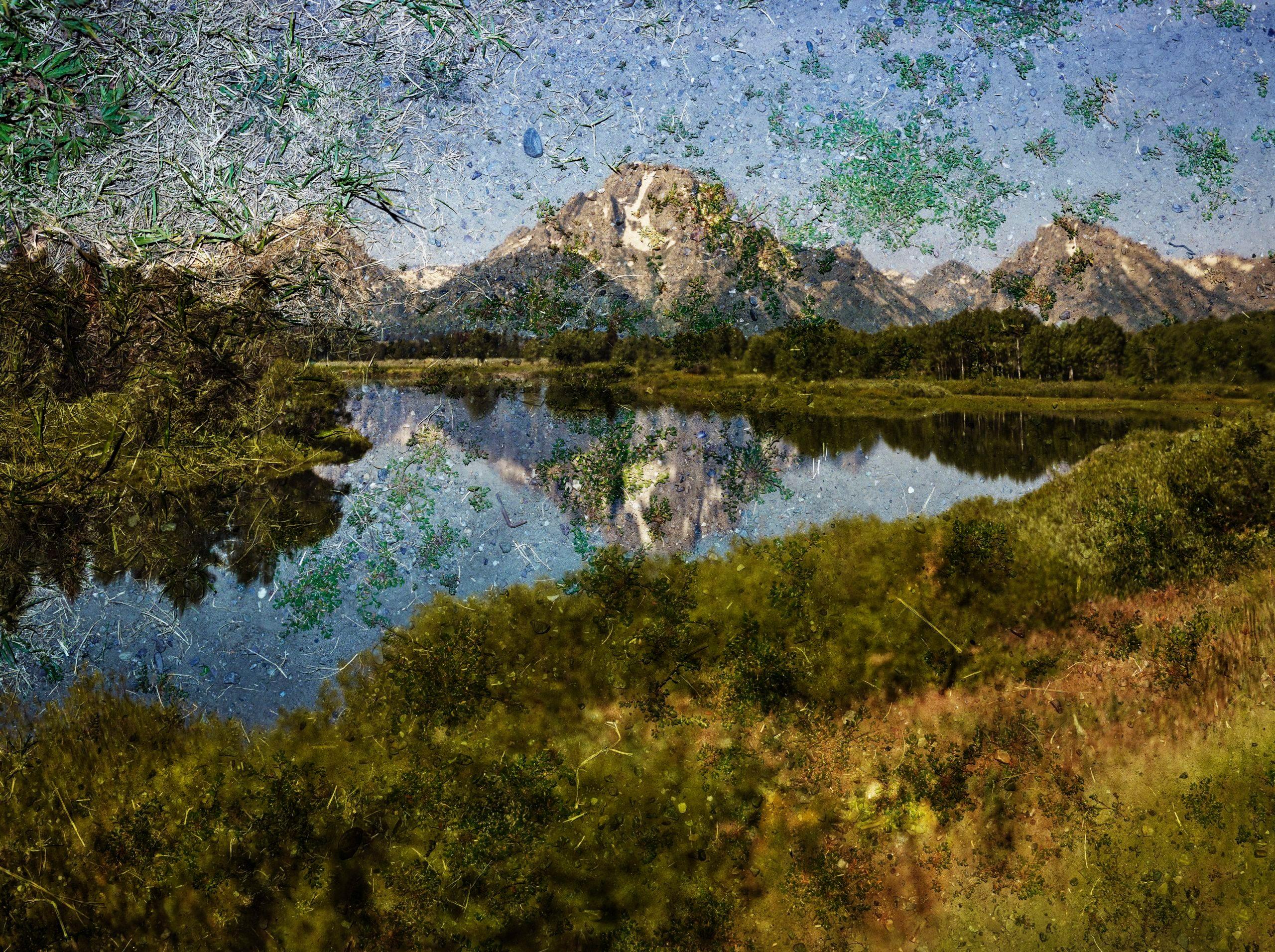 <em>Tent-Camera Image on Ground: View of Mount Moran and the Snake River from Oxbow Bend, Grand Teton National Park,Wyoming</em>, Abelardo Morell (American (born in Cuba, 1948)), 2011, Photograph, inkjet print, Abelardo Morell │Courtesy of Edwynn Houk Gallery, Courtesy, Museum of Fine Arts, Boston