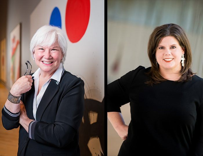 Left: Sandy Edwards, Right: Jill Wager
