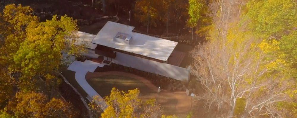 Frank Lloyd Wright Bachman-Wilson House overhead view
