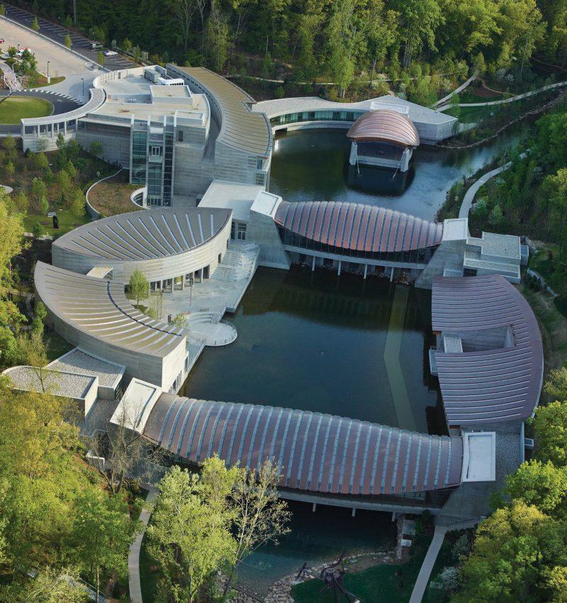 Crystal Bridges aerial view