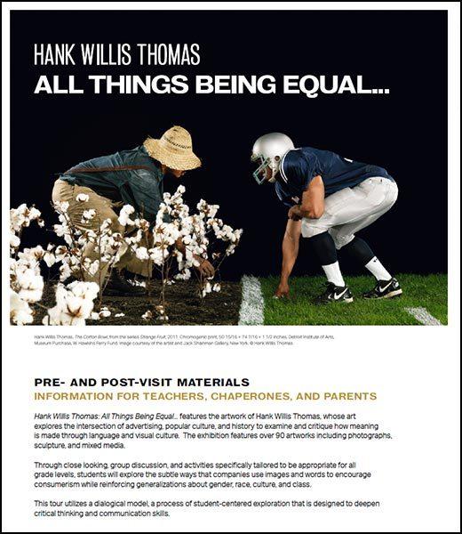 Hank Willis Thomas K-12 resource guide