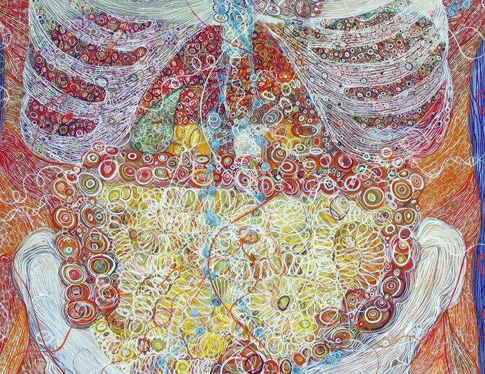 Monica Aissa Martinez, Male Torso - Anterior View (detail)