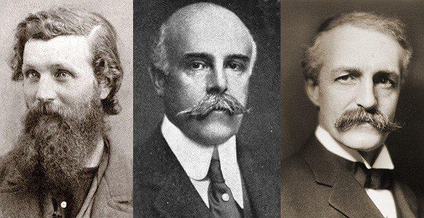 Photos of John Muir, Madison Grant and Gifford Pinchot.
