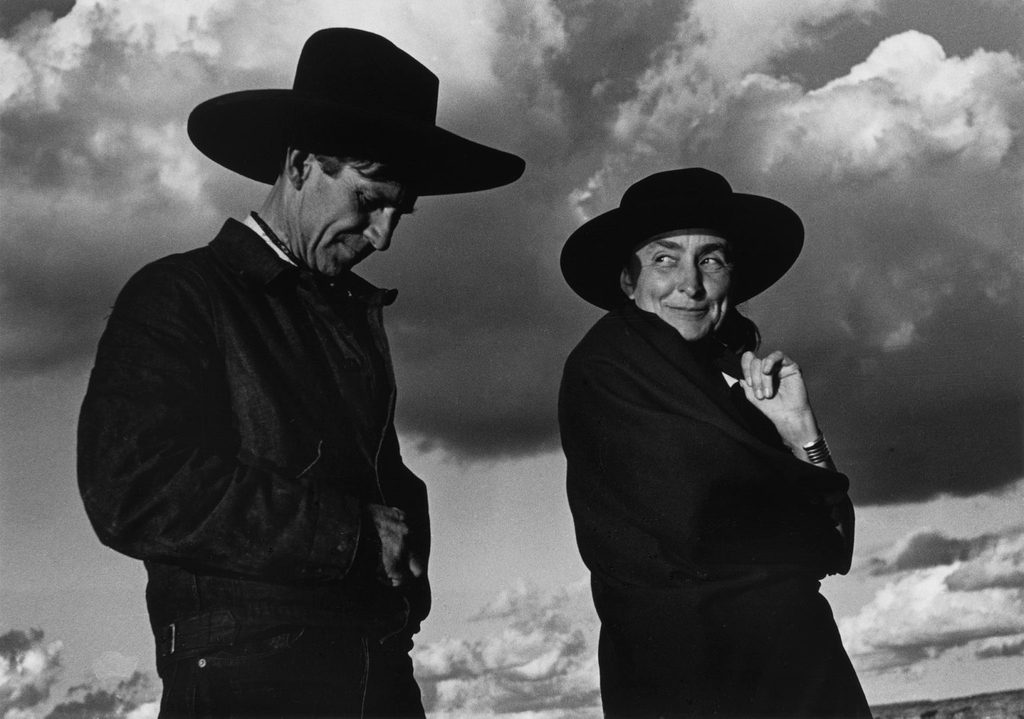Ansel Adams, photo of Georgia O'Keeffe and Orville Cox