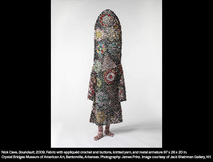 Fabric & mixed media sculpture by Nick Cave