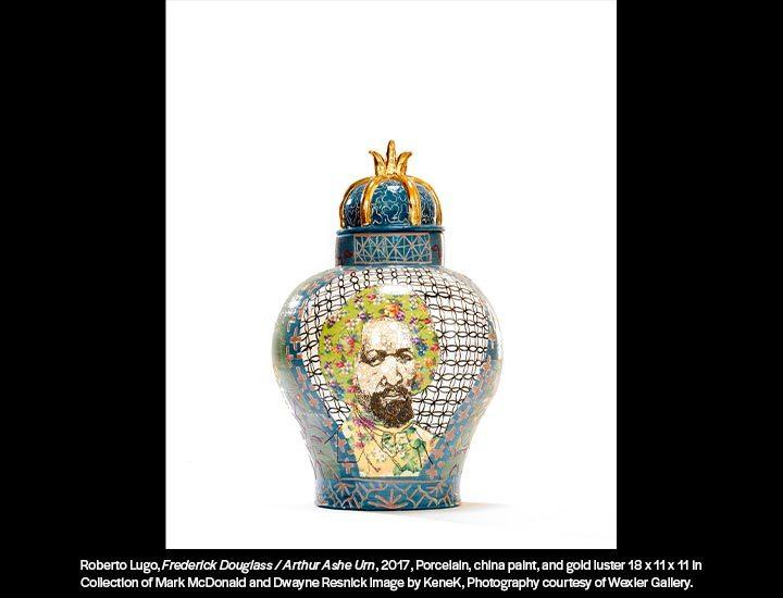 Porcelain vase by Roberto Lugo