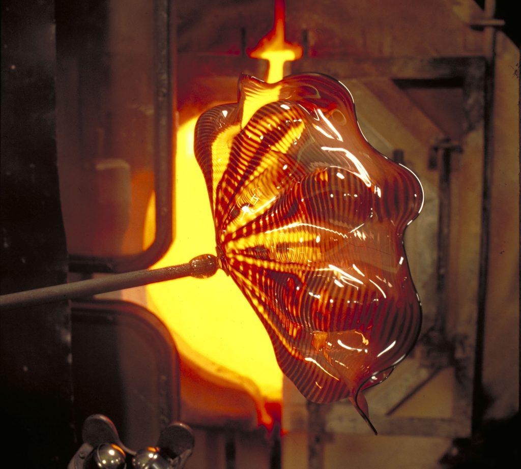 Glass shape in furnace