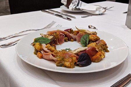 Plate of gourmet food