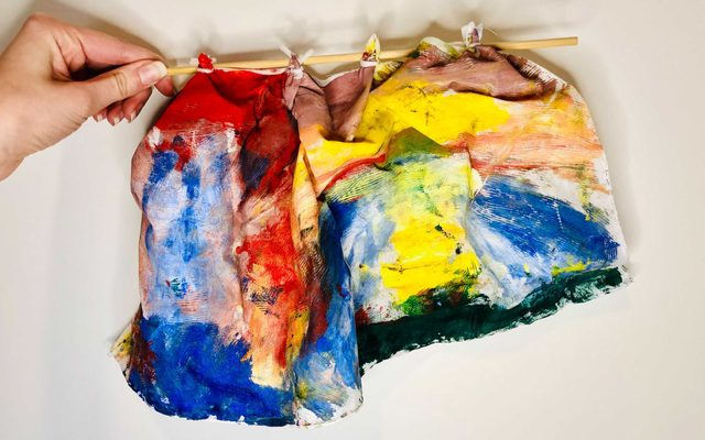 Drape painting in the style of Sam Gilliam