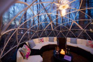 Crystal Bridges forest globe