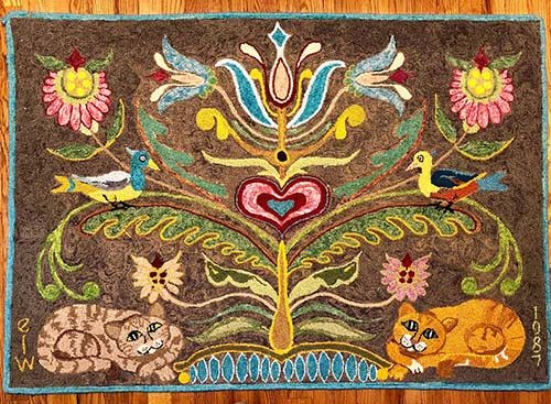 Hooked Rug Contributed by: Danny Baskin Created by: Estelle Weinstein Origin: Cobleskille NY