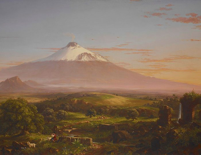 View of Mt. Etna by Thomas Cole