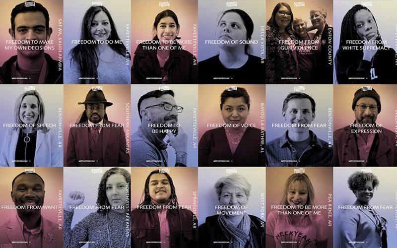 Grid of people portraits
