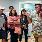 Man giving tour to museum guests