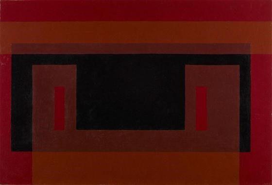 Josef Albers, Black Wall: Variant
