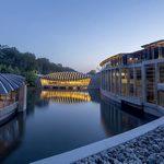 Crystal Bridges at twilight