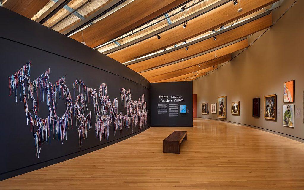 Art hanging in Crystal Bridges Gallery 1