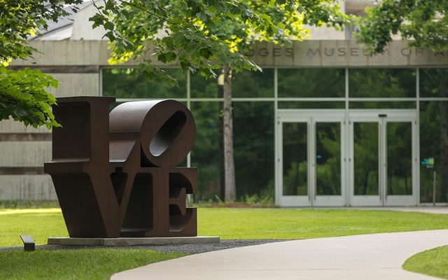 Love sculpture on the Crystal Bridges South Lawn
