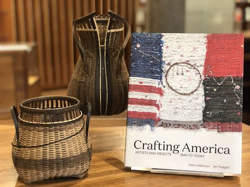 Exhibition catalog and woven vessels