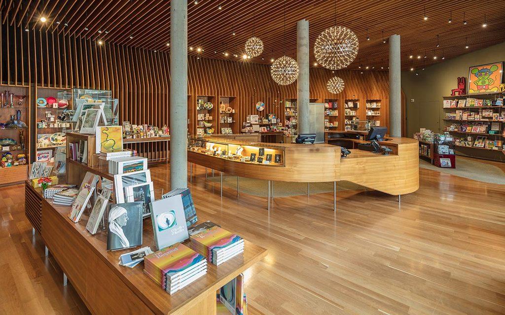 Museum store interior