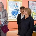 Visitors on a guided Crystal Bridges tour