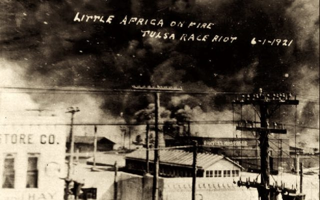Historic photo of Little Africa on Fire