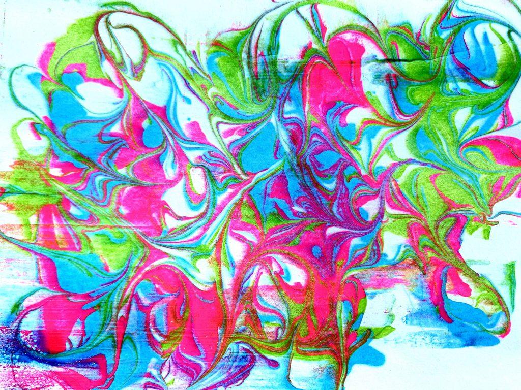 rainbow marbling artwork