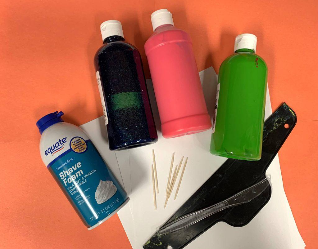 rainbow marbling artmaking activity materials