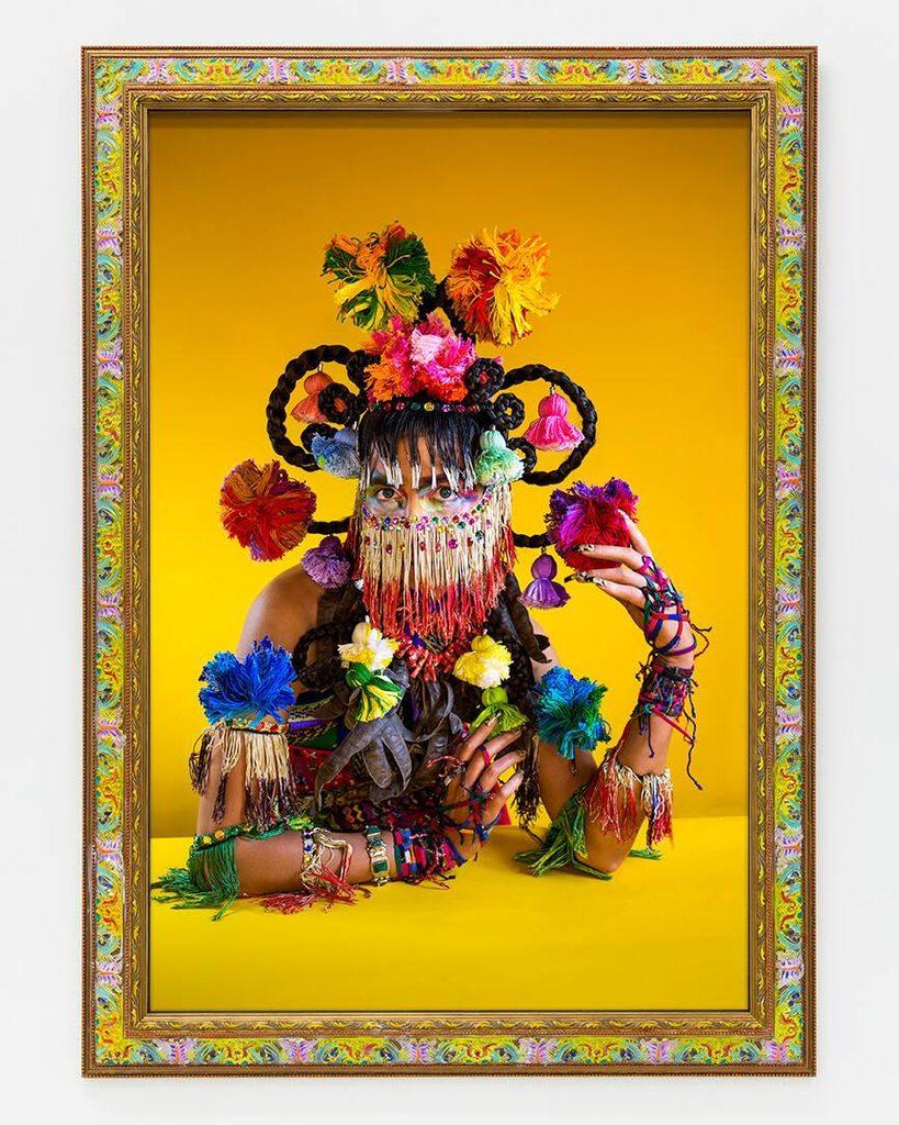 martine gutierrez artwork, demons