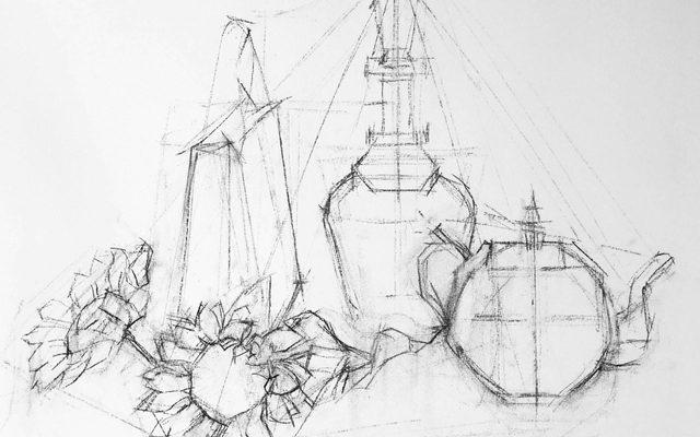 Lin Chen Still Life Drawing