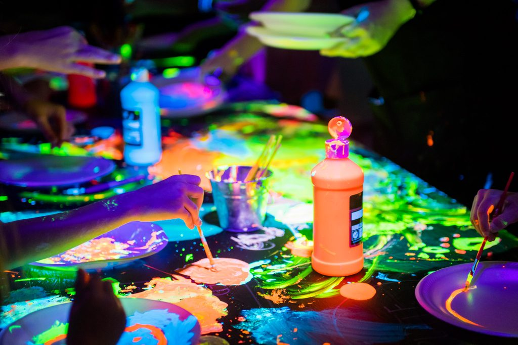 Glow in the dark paint and artwork