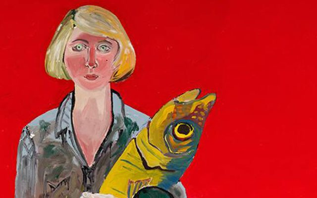 Joan Brown, Self-Portrait with Fish and Cat