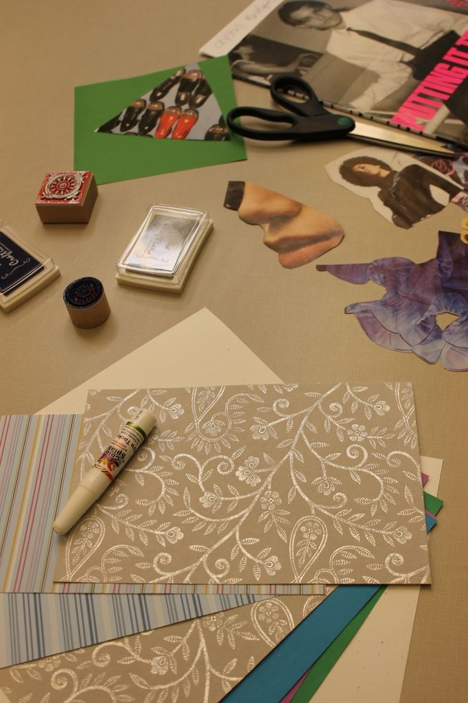 picture of collage materials