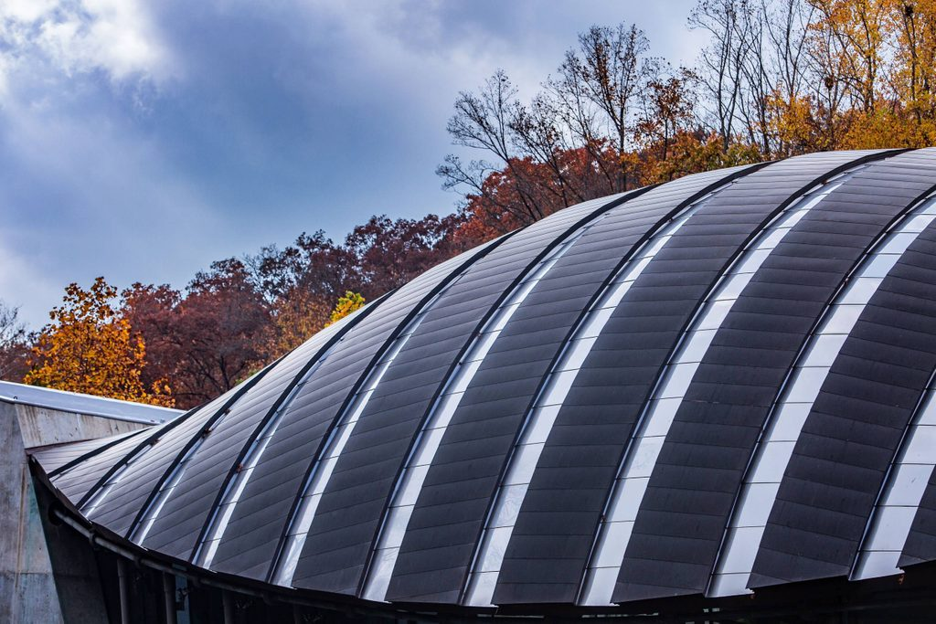 great hall rooftop in autumn