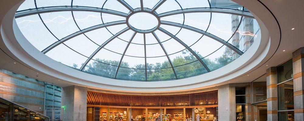 Skylight in museum lobby