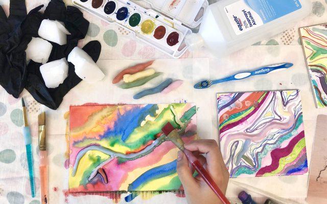 watercolor activity