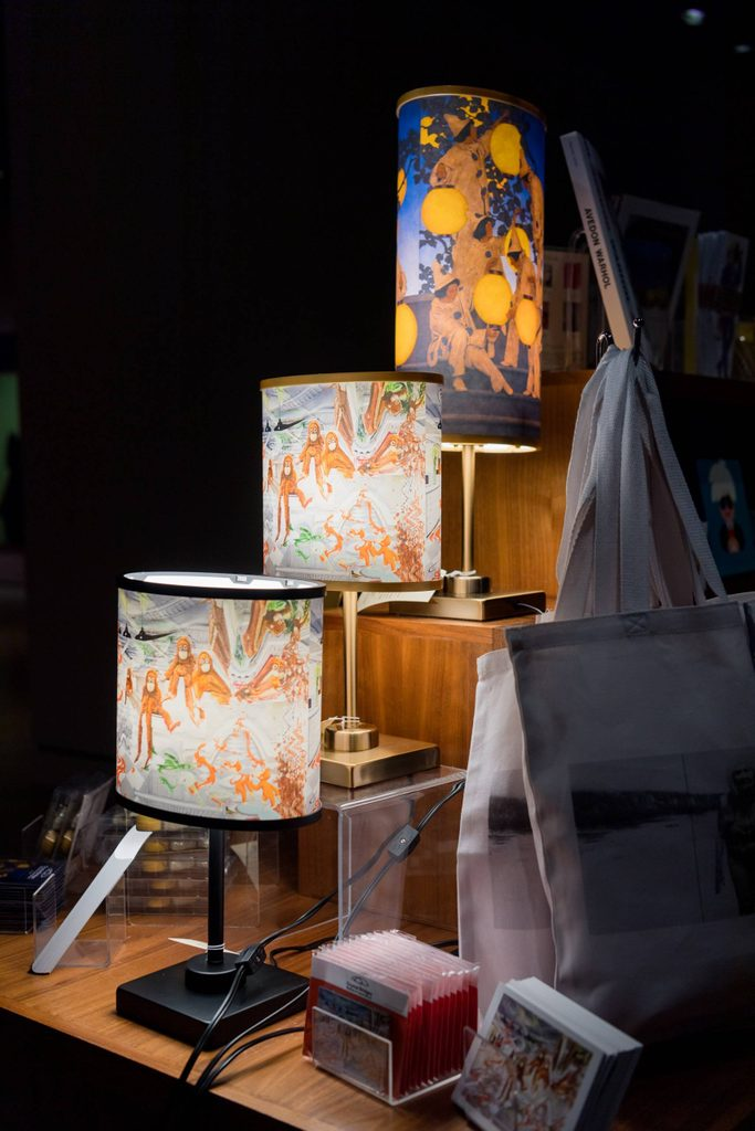 lamps with artworks, the lantern bearers and darwin
