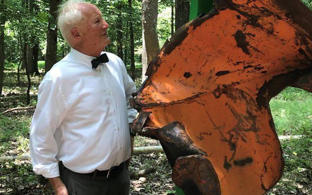 volunteer bill correll with outdoor artwork