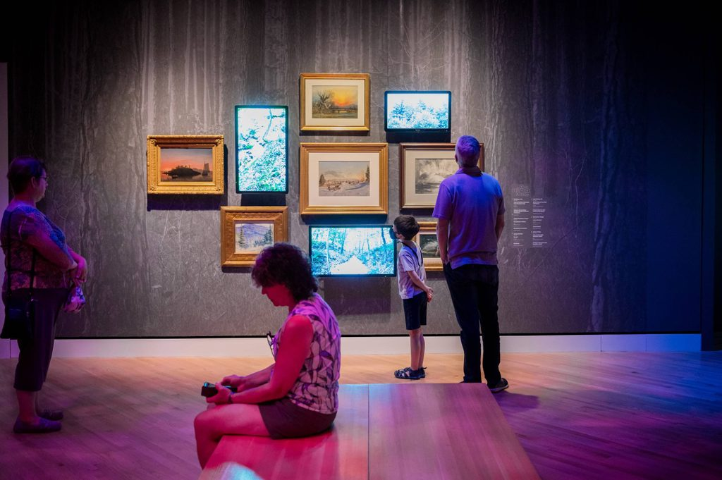 Art and Nature room in Crystal Bridges at 10