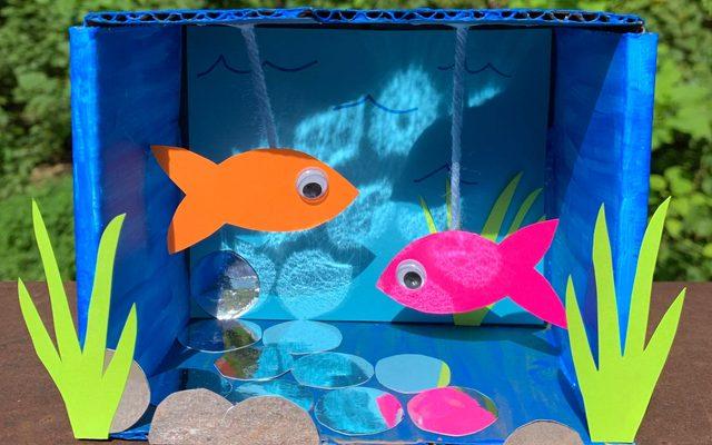 mini aquarium artmaking activity