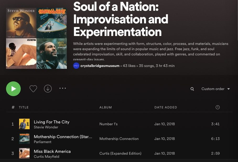 Spotify Playlist screenshot
